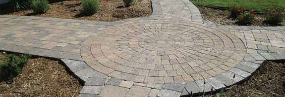 circle pattern pavers san diego